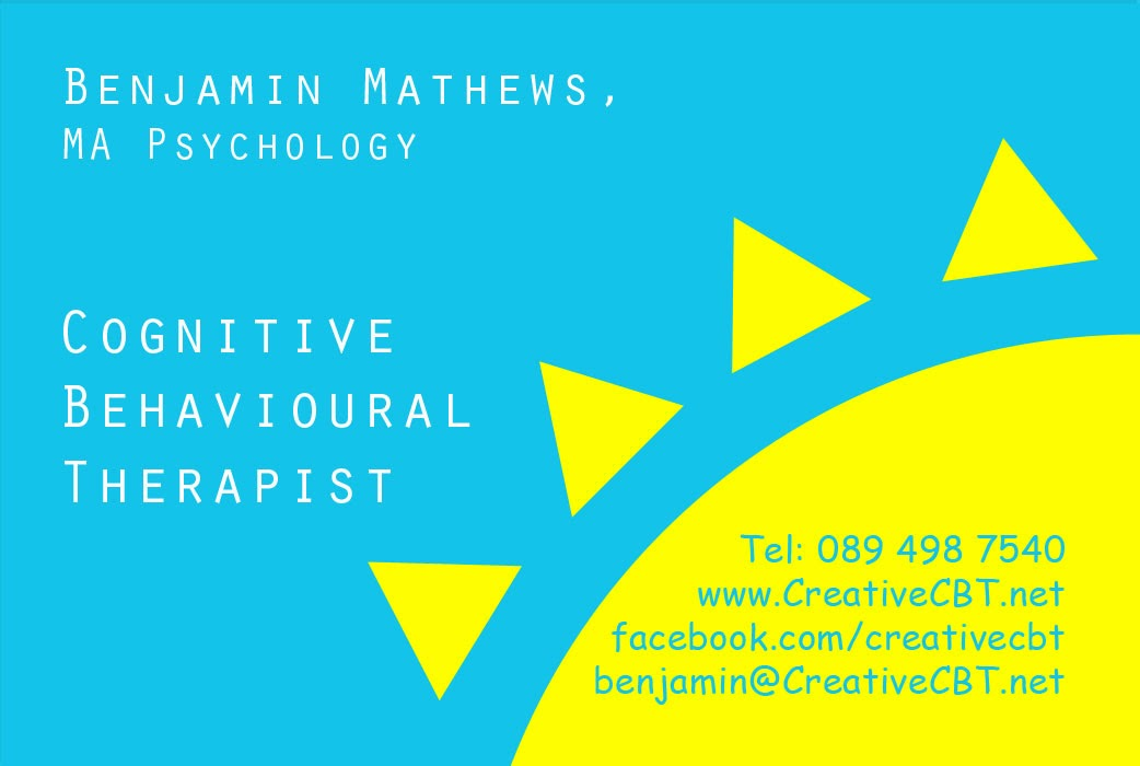 Creative CBT Counselling: The New Creative CBT Business Card