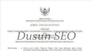 Download SK Tunjangan Fungsional Seluruh Jawa Tengah 2013