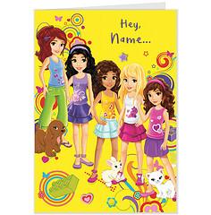 lego friends inspire girls globally lego friends birthday party ideas, Birthday card