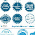 Vectors - Stylish Water Labels
