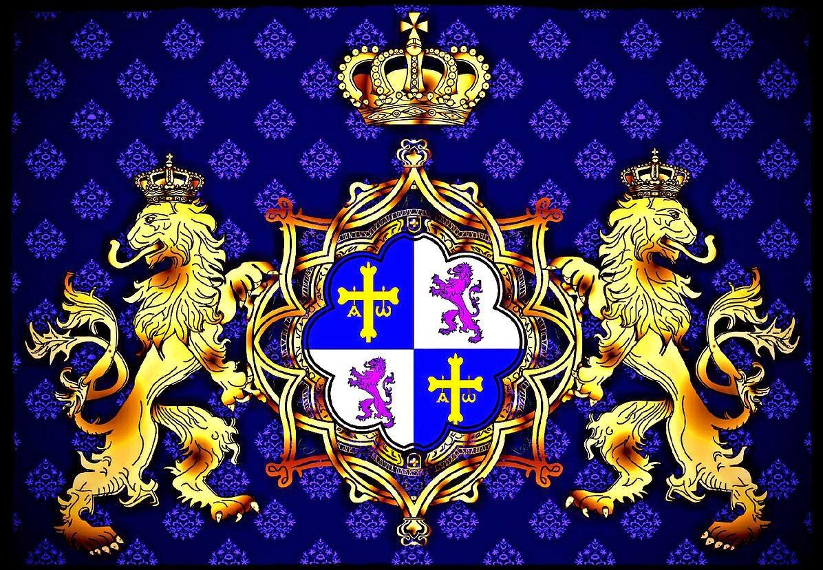 Brasão da Casa Principesca dos Camêlo de Astúrias e Leão