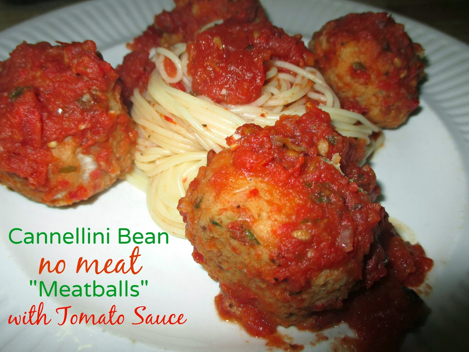 """Just my Stuff: Cannellini Bean No Meat """"Meatballs"""" with ..."""