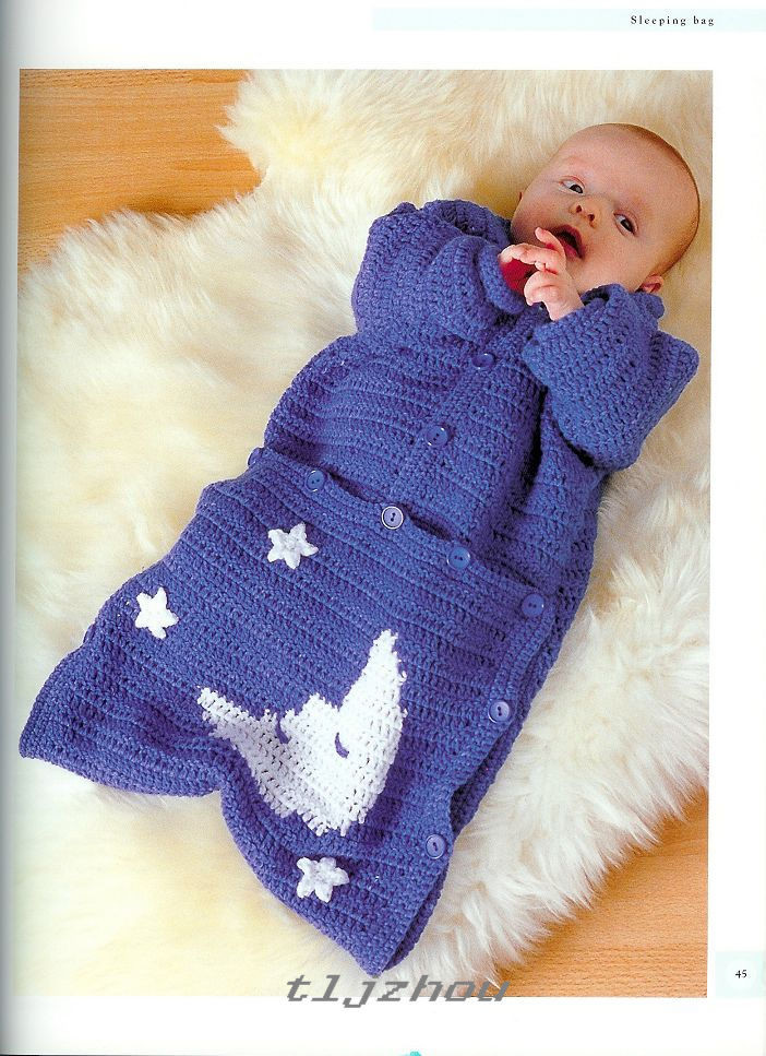 Knitting Pattern Sleeping Bag : Crochet Knitting Handicraft: baby sleeping bag