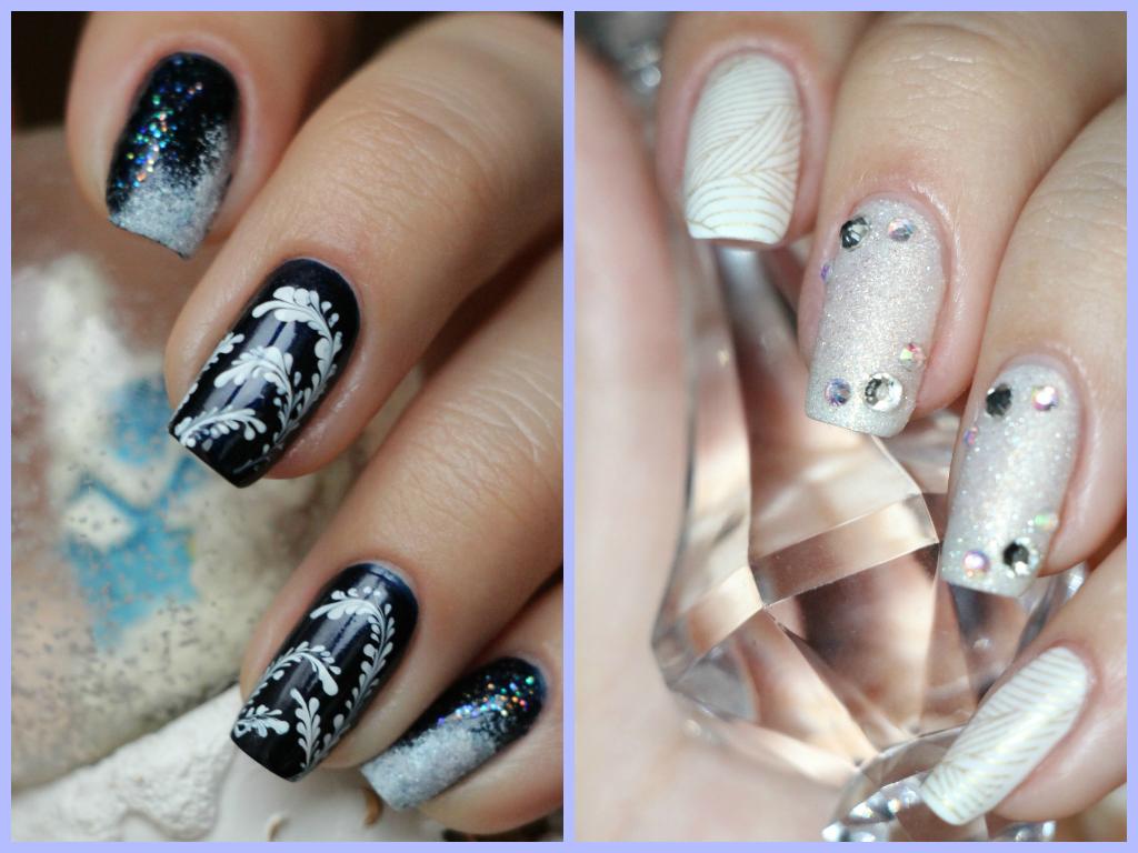 Морозные узоры на ногтях