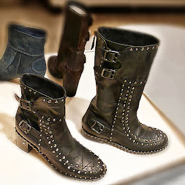 Laurence Dacade Badely Studded Double-Buckle Ankle Boot and Baltazar Stud Buckle Boot NM