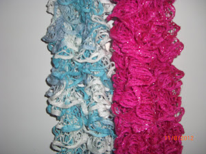 Frilly scarves