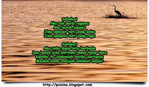 "Puisi Maukah Kamu Menjadi Sahabat Maya ""Edisi Arjuna Linglung"""