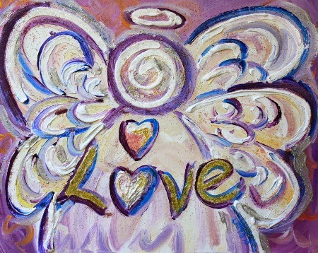 Love Angel Art Poster Print