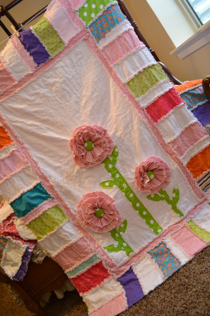 Ruffled Flower Rag Quilt Set Finished A Vision To