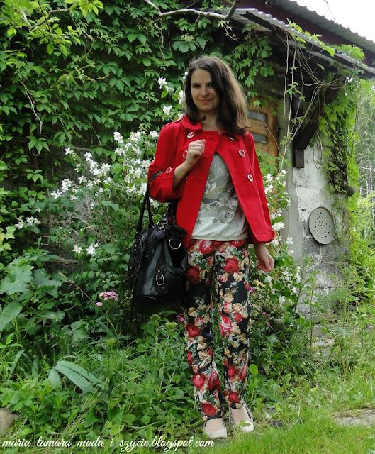 spodnie w kwiaty na lato