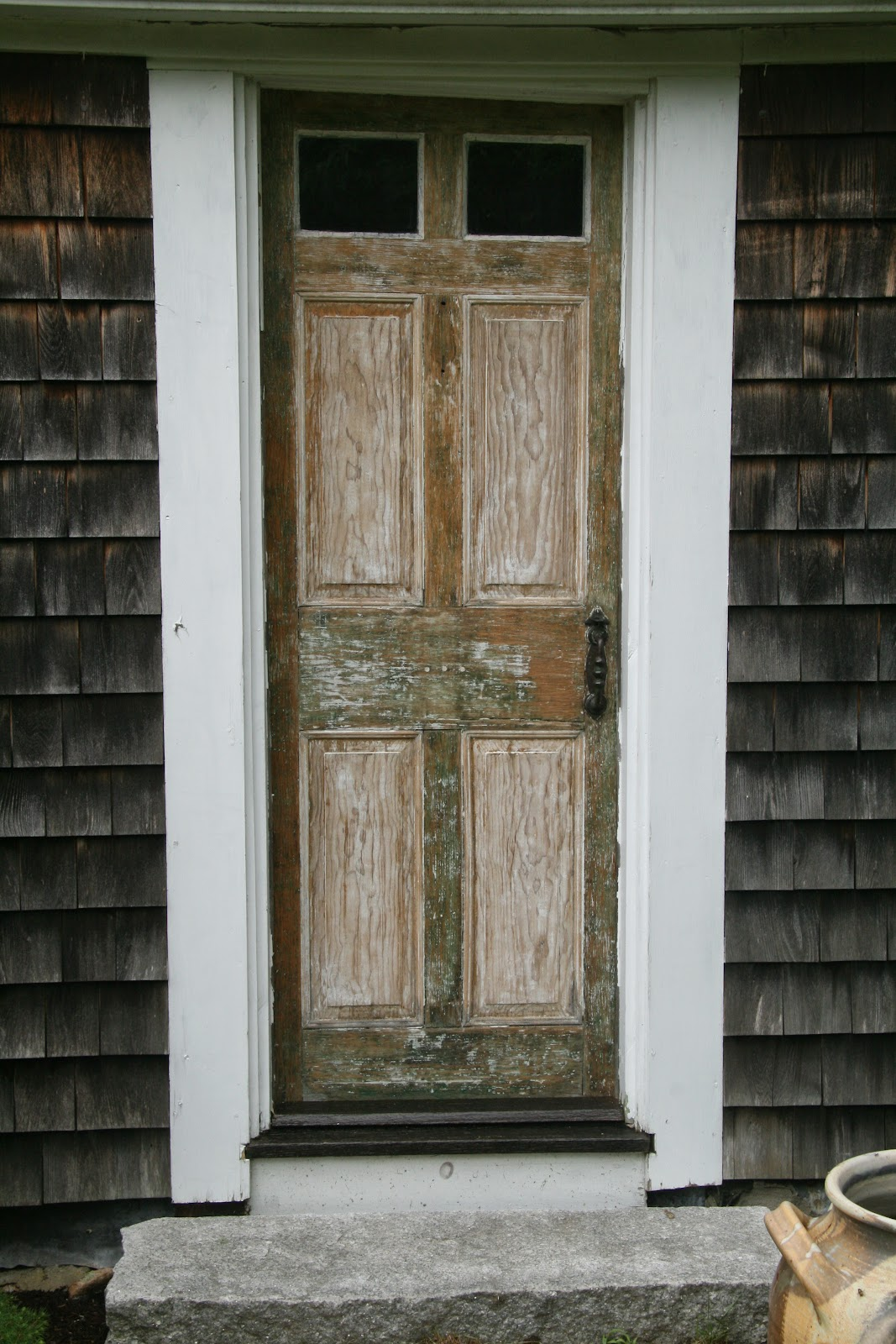 An old farm restoring an antique front door for Exterior back doors for home