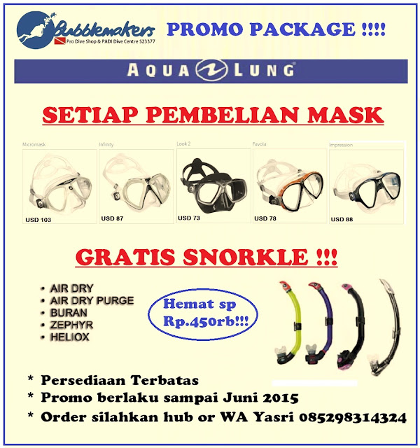 Bubblemakers Paket Promo Mask dan Fin