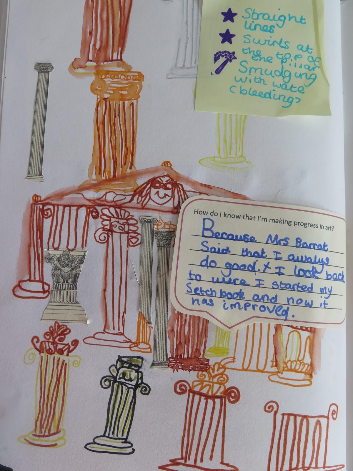 ancient greek temples year 3 gomersal primary school art
