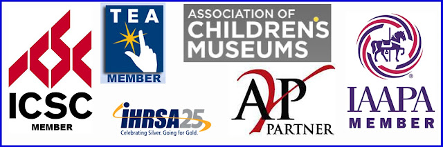 ICSC - International Council of Shopping Centers  TEA - Themed Entertainment Association  IHRSA - International Health, Racquet & Sportsclub Association  ACM - Association of Children's Museums  AYP Parnter - YMCA/YWCA/Y Approved Vendor  IAAPA - International Association of Amusement Parks & Attractions