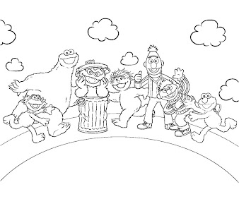 #6 Sesame Street Coloring Page