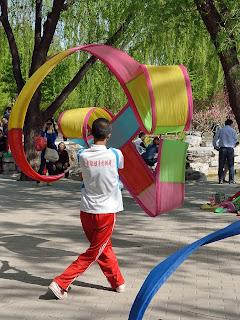 Ribbon dancer in Yuyuantan Park