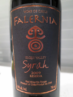 Label photo of 2009 Falernia Reserva Syrah from Elquí Valley, Chile