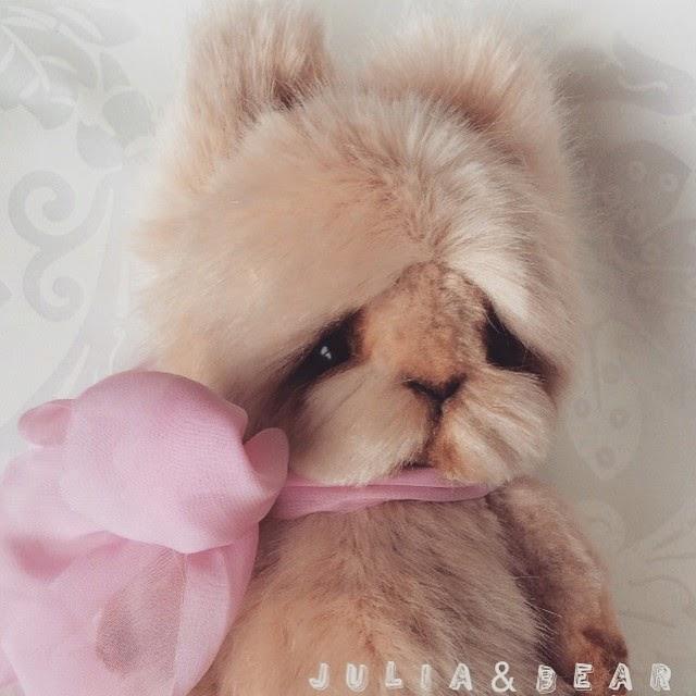 Кролик, искусственный мех, HobbyStudio, мех, мохер