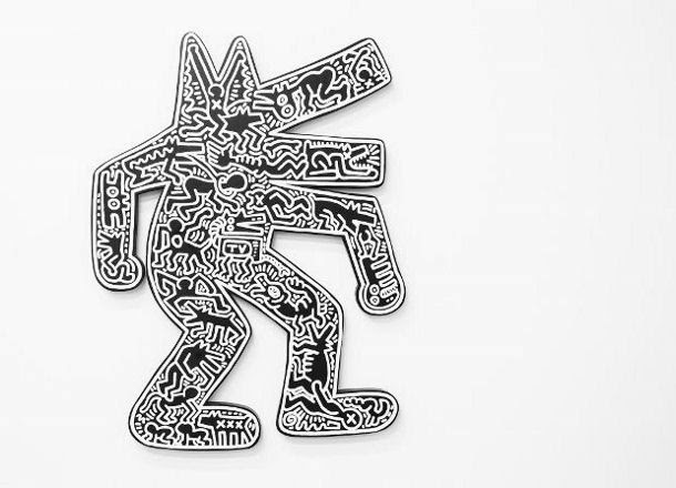 haring dog 1986 620x447 610x440 The social dog of Keith Haring
