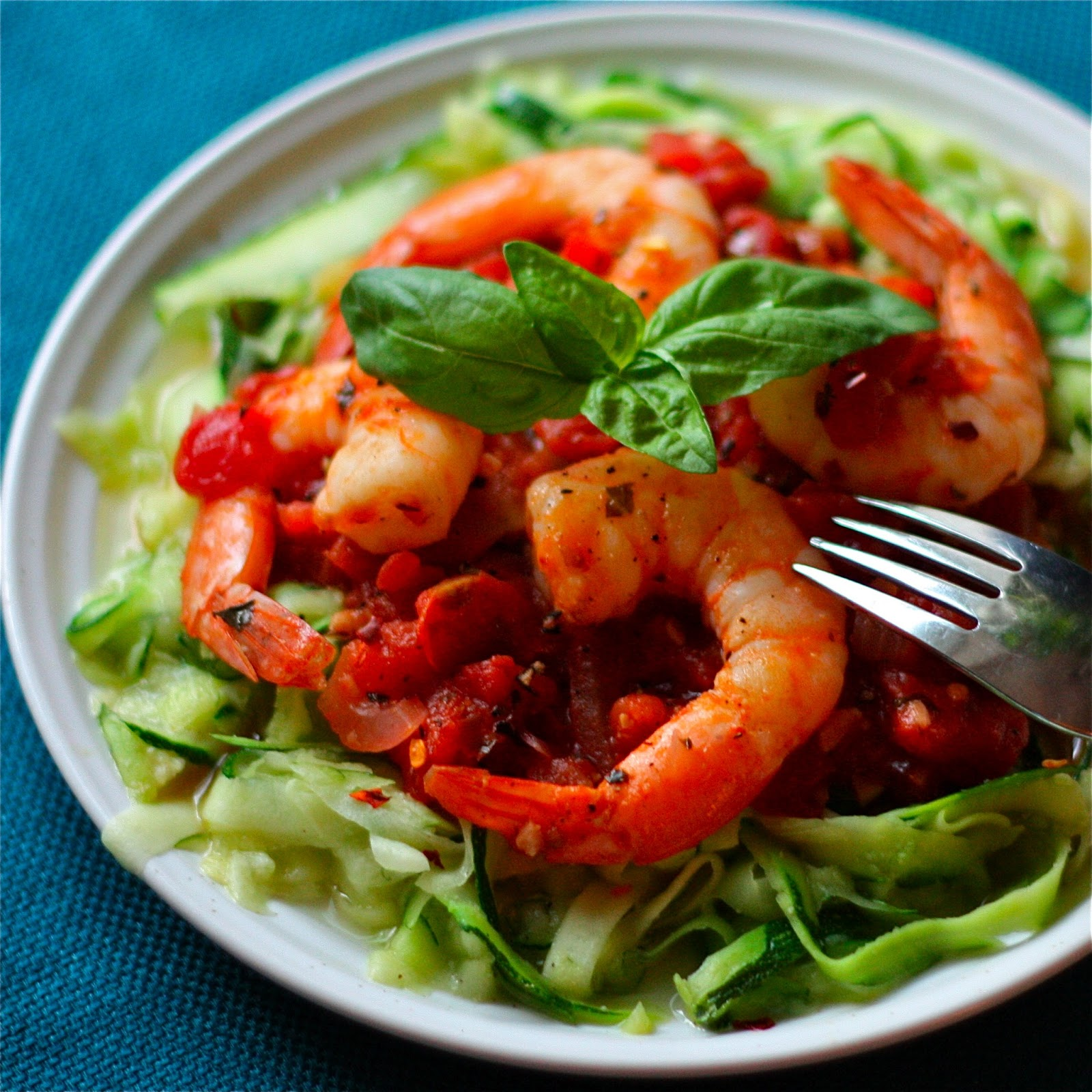 Shrimp Fra Diavolo over Zucchini Linguine - Get Off Your Tush and Cook ...