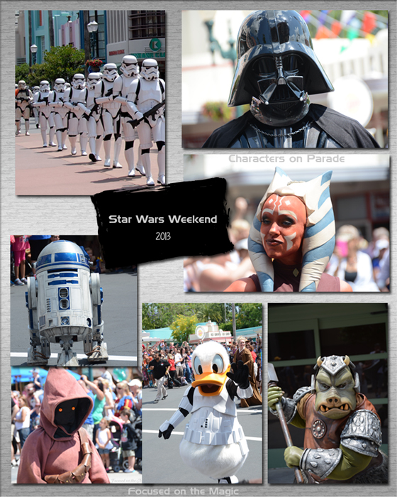 Star Wars Weekend Characters on Parade!