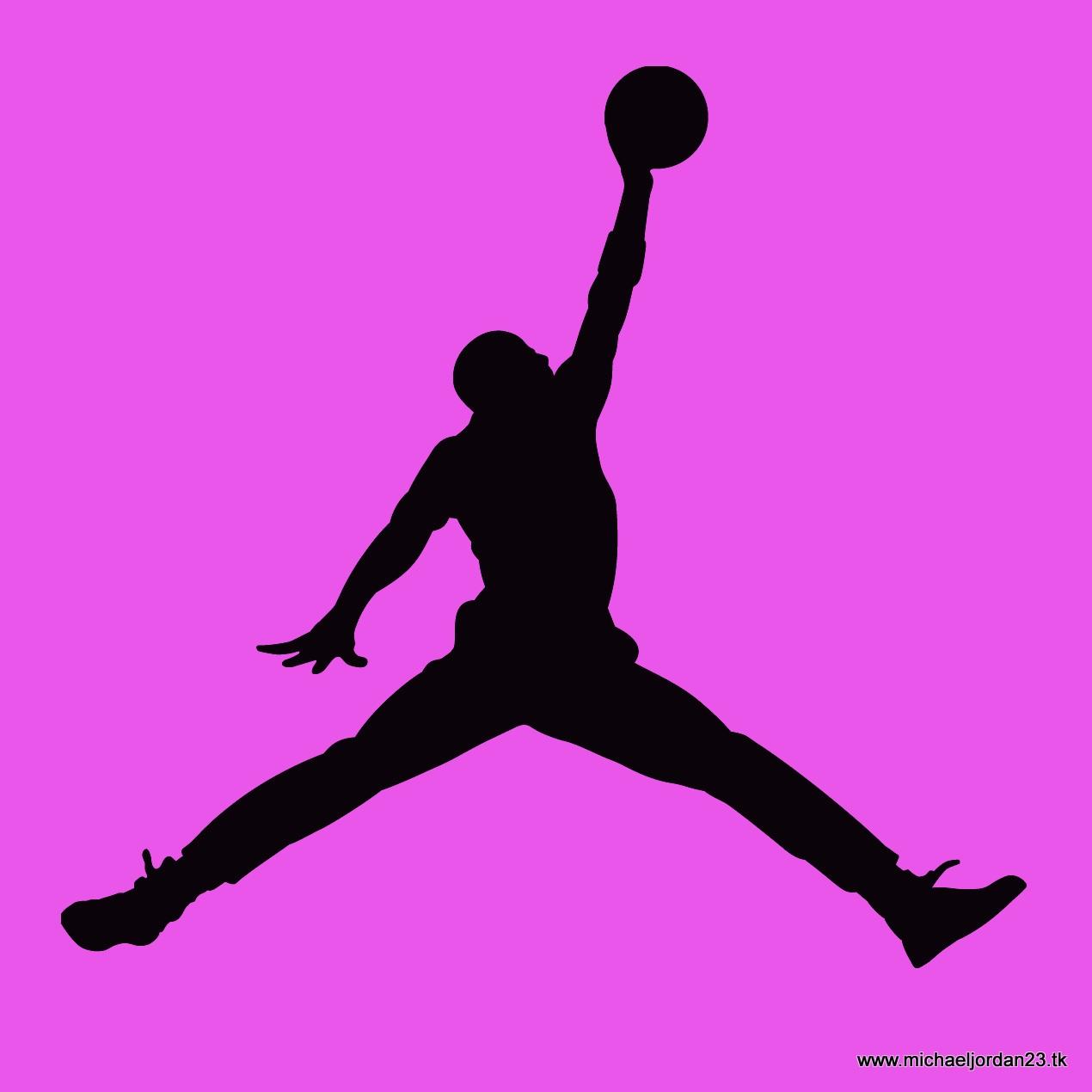 Pink Backquround Jordan Logo