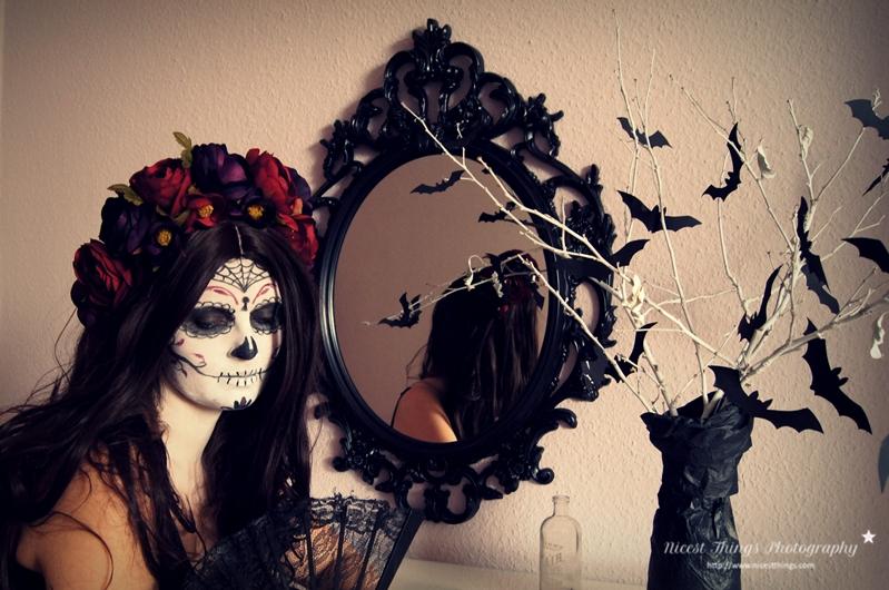 Dia De Los Muertos Kostüm Sugar Skull Makeup