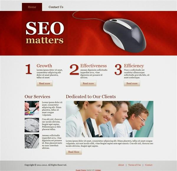 SEO Matters - Free Drupal Theme