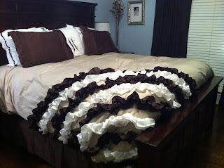 DIY Ruffled Bedspread