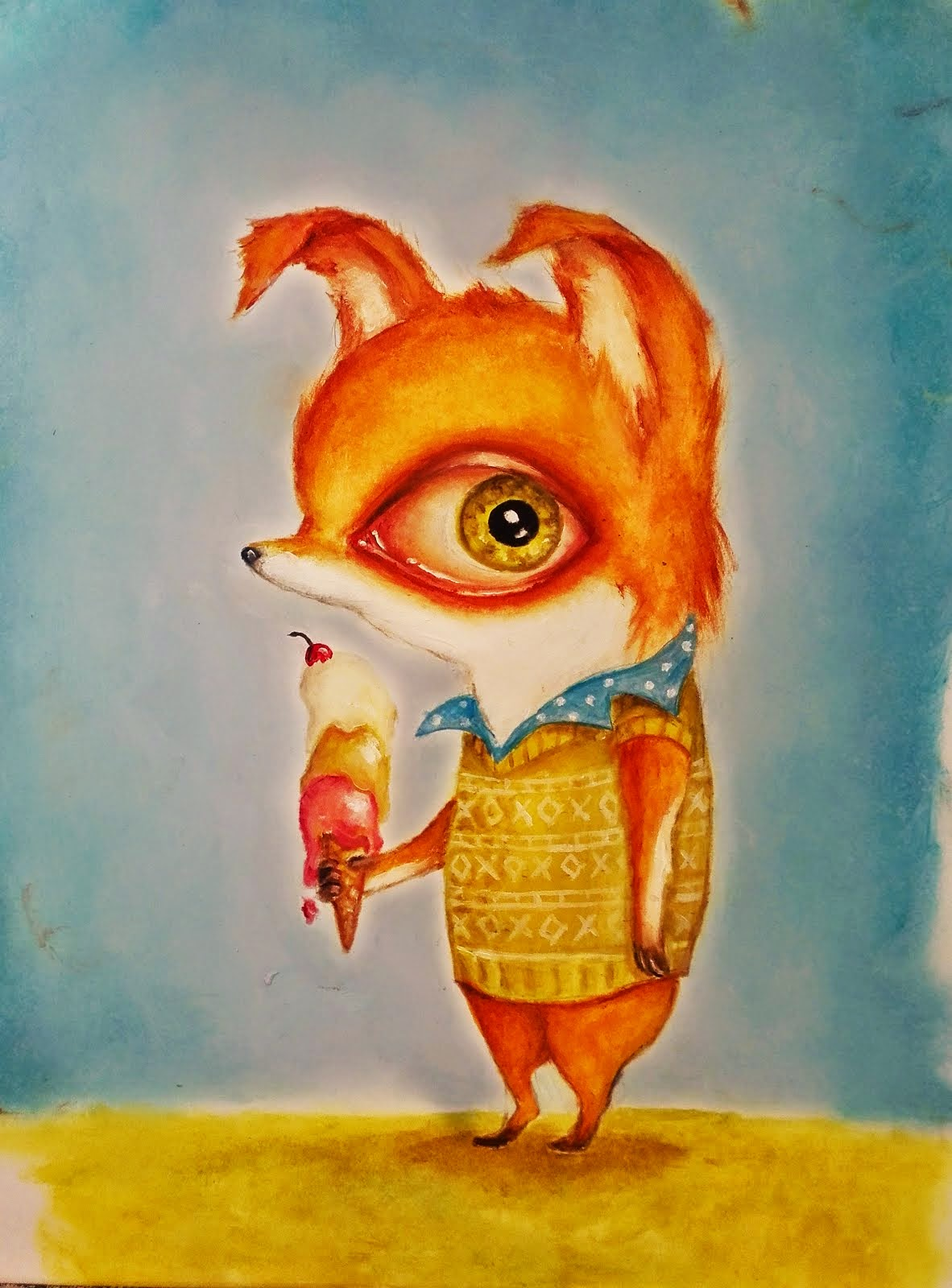 """Tiny Mr. Fox"", 2015. SOLD"