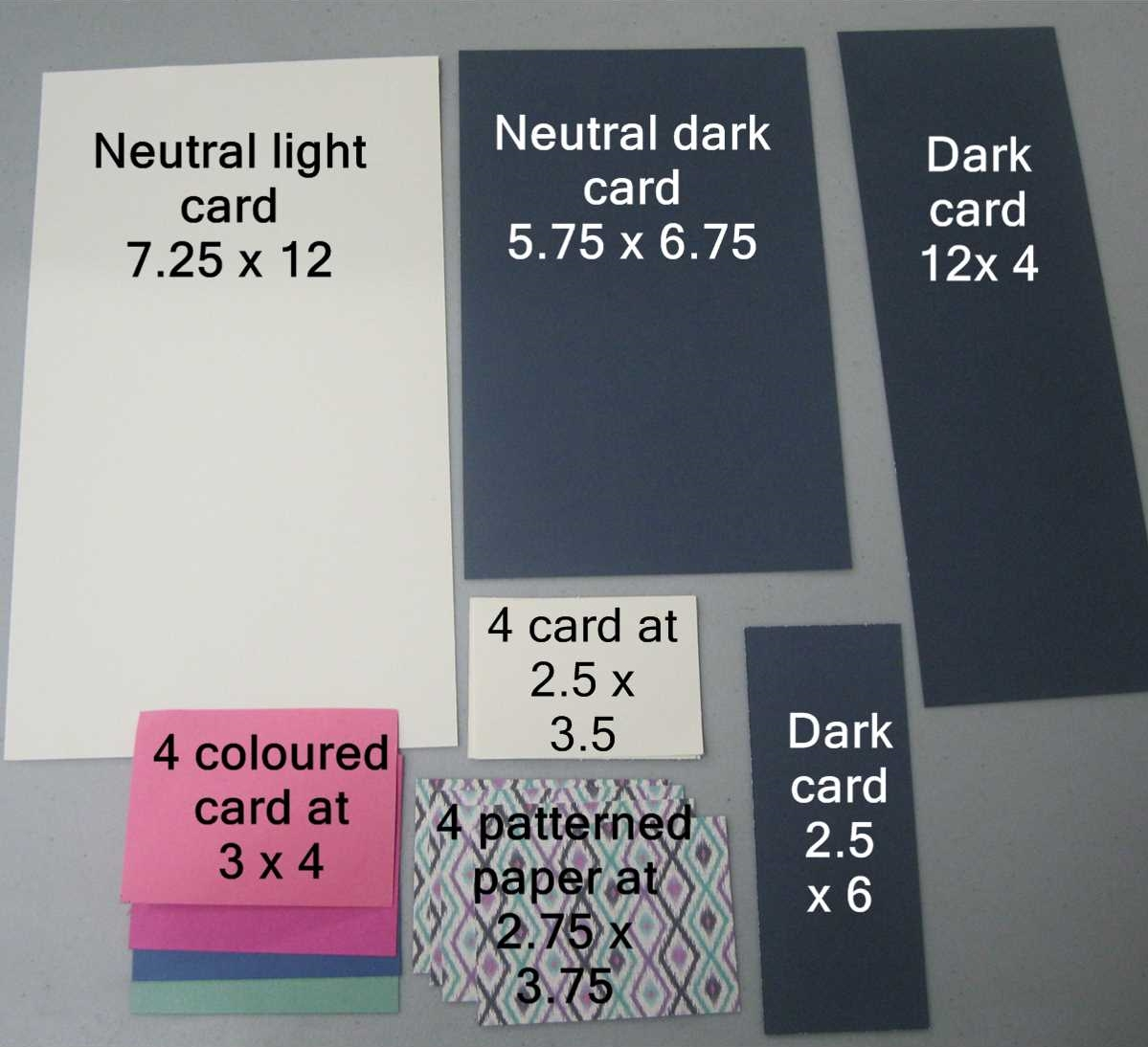 how to make a waterfall card step by step