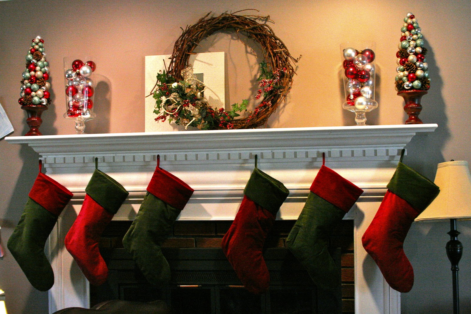 Chimney Christmas Decorations grass stains: the stockings are hungthe chimney with care