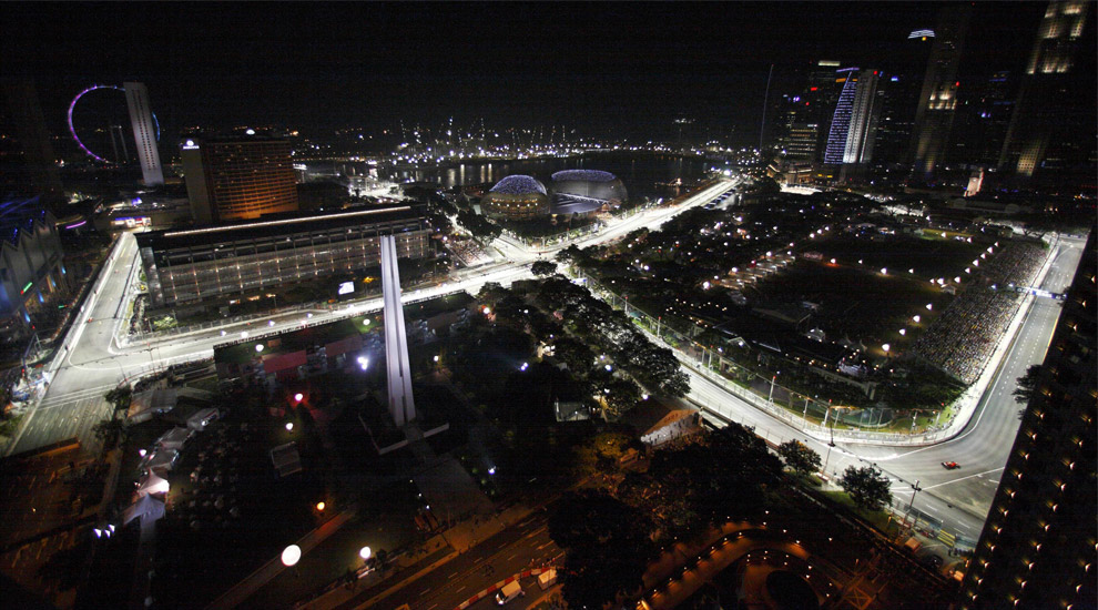 Circuito F1 Singapur : Singapore grand prix marina bay street circuit photos