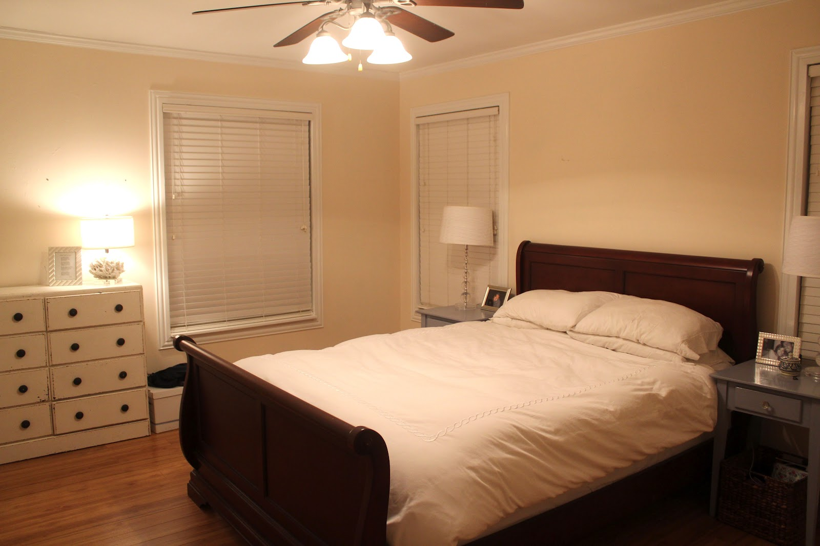 Fresh and fancy pick our paint colors master bedroom makeover How to paint a bedroom wall
