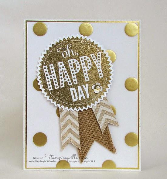 Oh, Happy Day card by Stampingville | Stampin' Up! Starburst Sayings stamp set plus Starburst Framelits Dies.