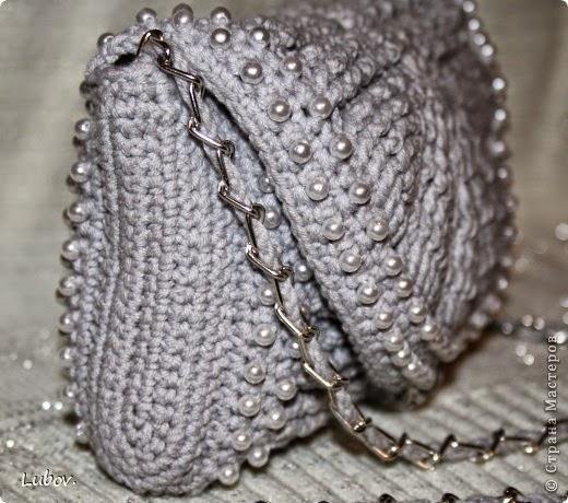 Cartera de gala tejida crochet