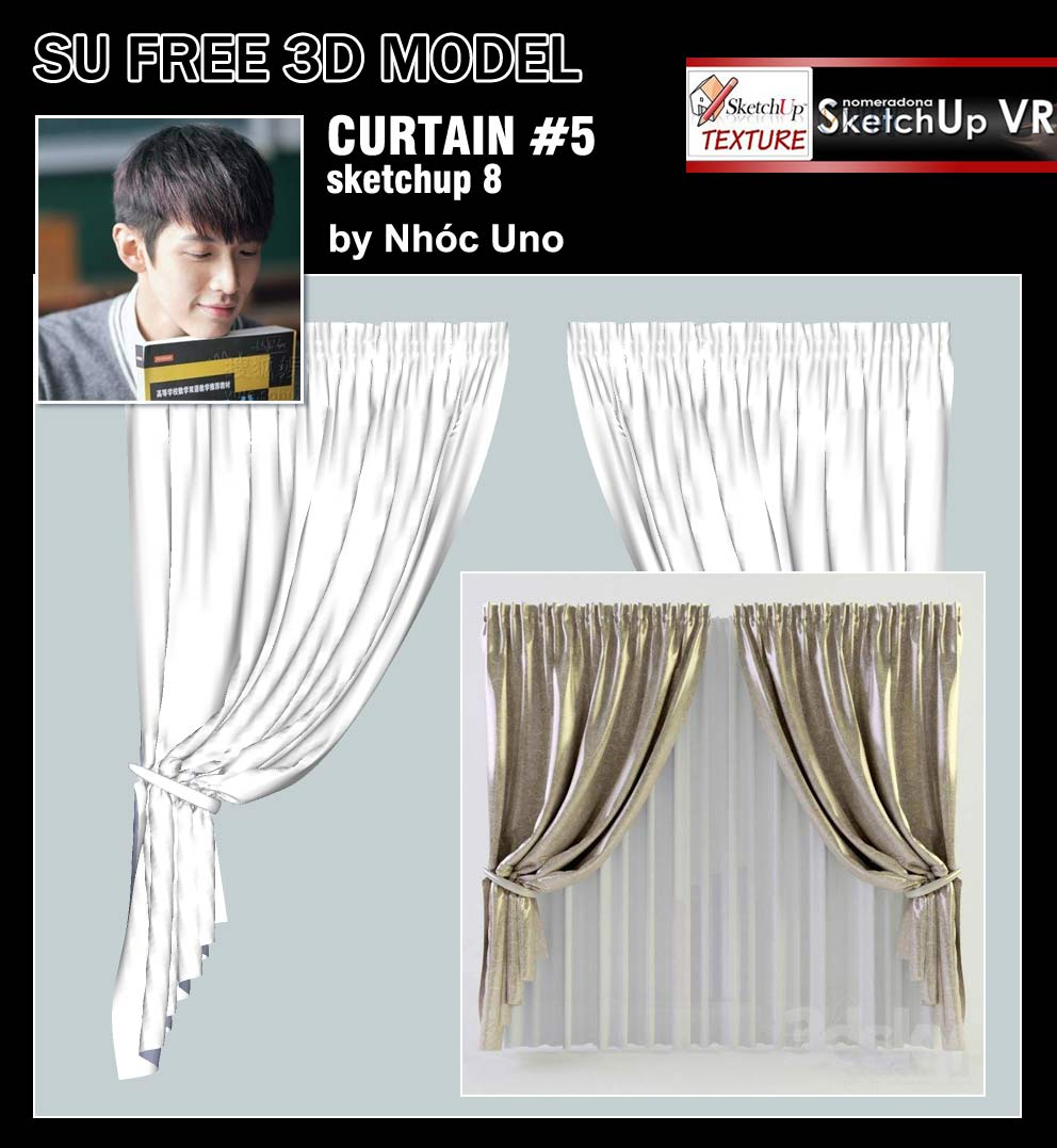 Sketchup Texture Curtains 5 Sketchup Free 3d Model