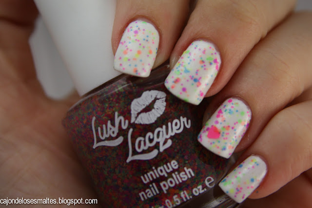 Lush Lacquer Freckles neon indie polish