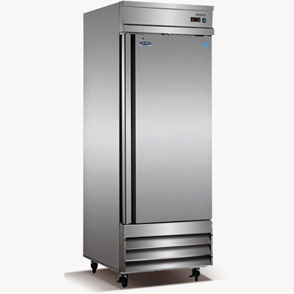 Midea stainless steel compact single reversible door upright freezers - 23 Cf Stainless Steel One Door Commercial Freezer