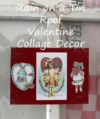 DIY Valentine Wreath & Art {rainonatinroof.com} #valentine #DIY #art #craft