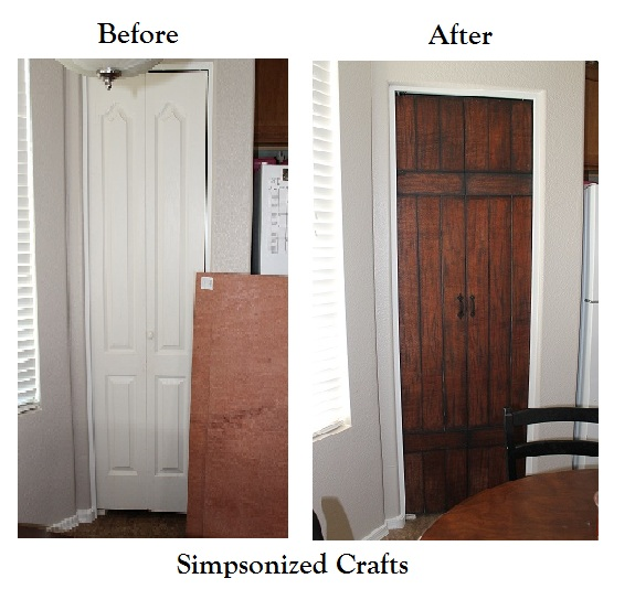 Simpsonized Crafts Turning Bi Fold Doors Into Faux Barn Door Tutorial