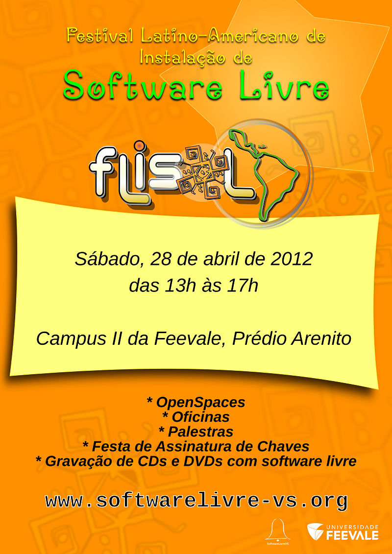 flisol 2012 software livre vs universidade feevale
