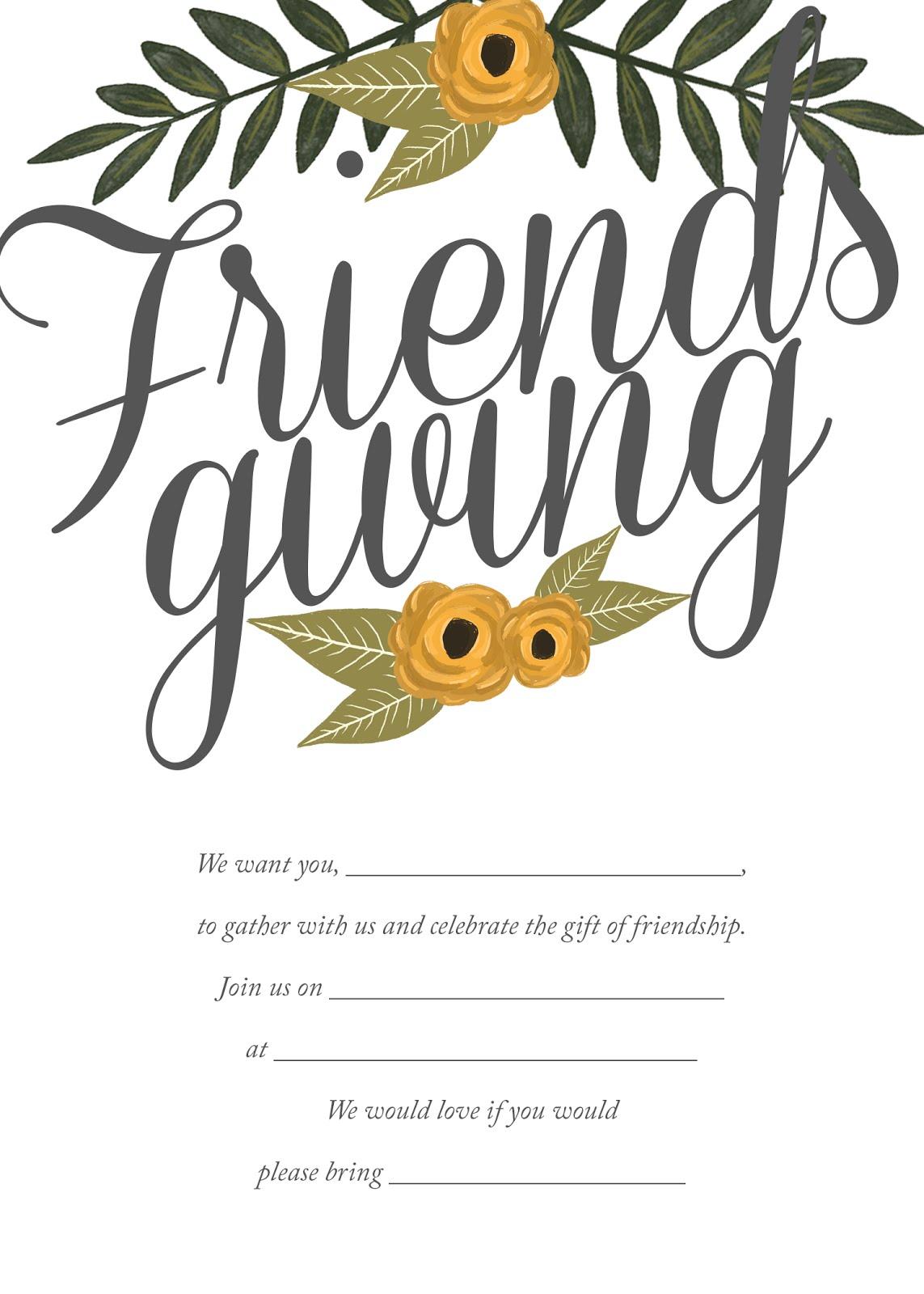 honeysuckle place setting options printable friendsgiving invite