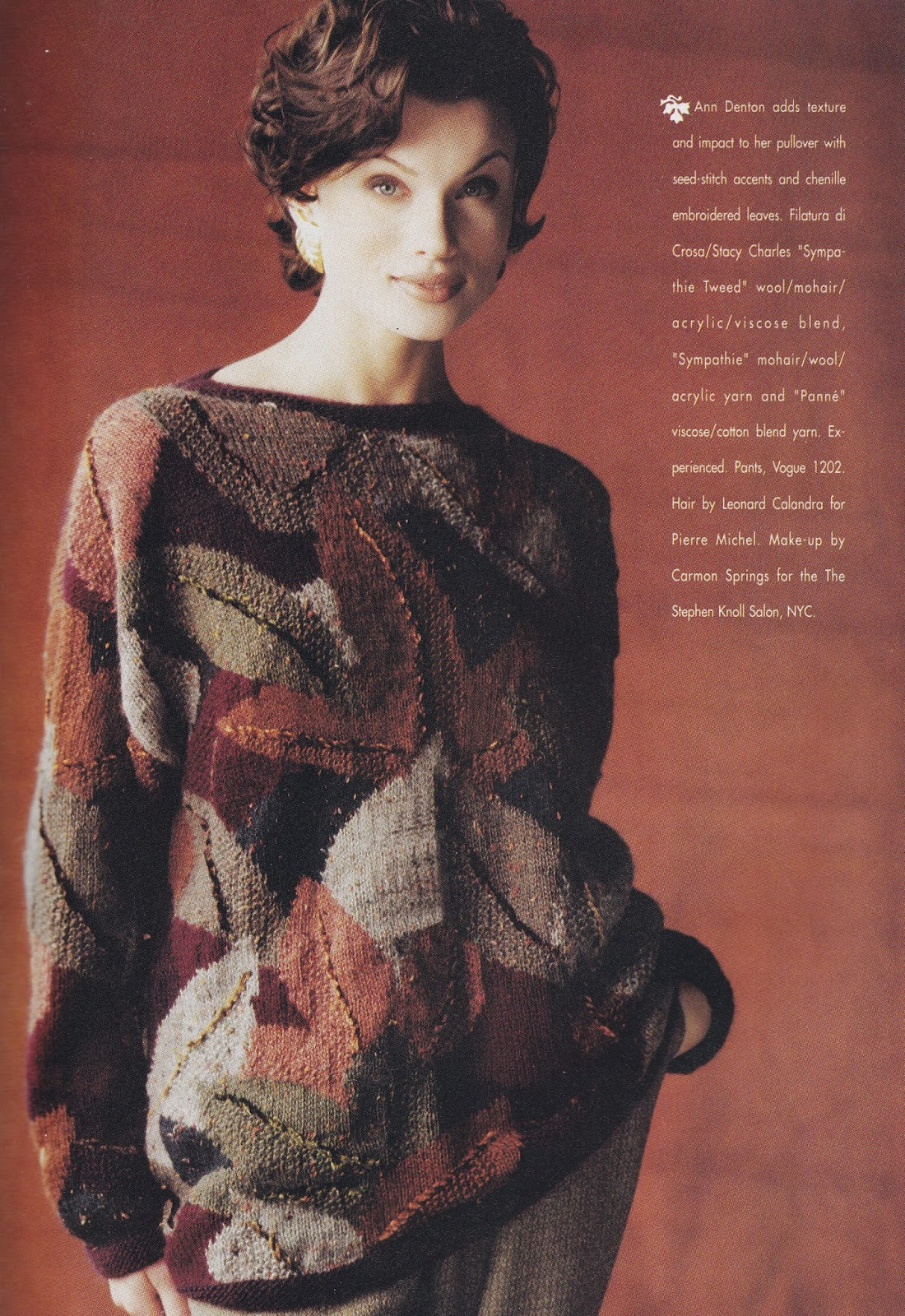 Adrienne Vittadini Knitting Pattern Books : The Knitting Needle and the Damage Done: Tunics and Tapestries: Selected Knit...