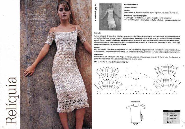 Magnífico Patrones De Tejer Vestido Modelo - Ideas de Patrones de ...