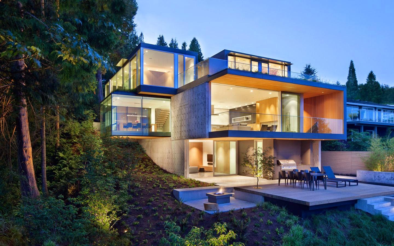 Un faro de ideas casa en el bosque de west vancouver canad - Casa con terreno ...