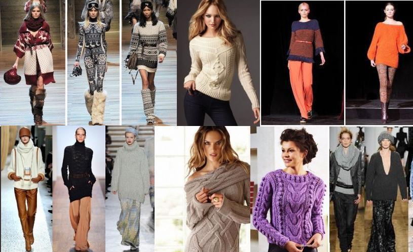 Модные вязанные вещи для модных