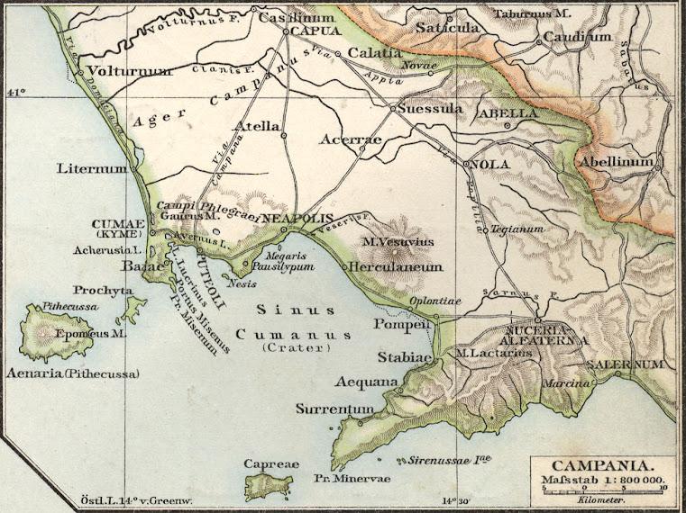 Mappa dell'antico assetto politico del golfo di Napoli (Sinus Cumanus)