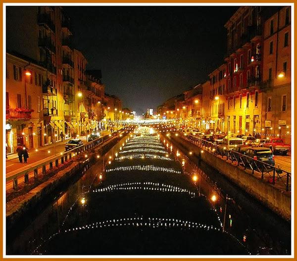 Milan at night (Italy)