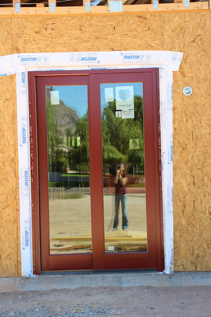 brick red weather shield sliding doors